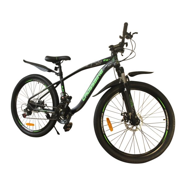 """Crossbike Alpina 26"""" черный-зеленый"""