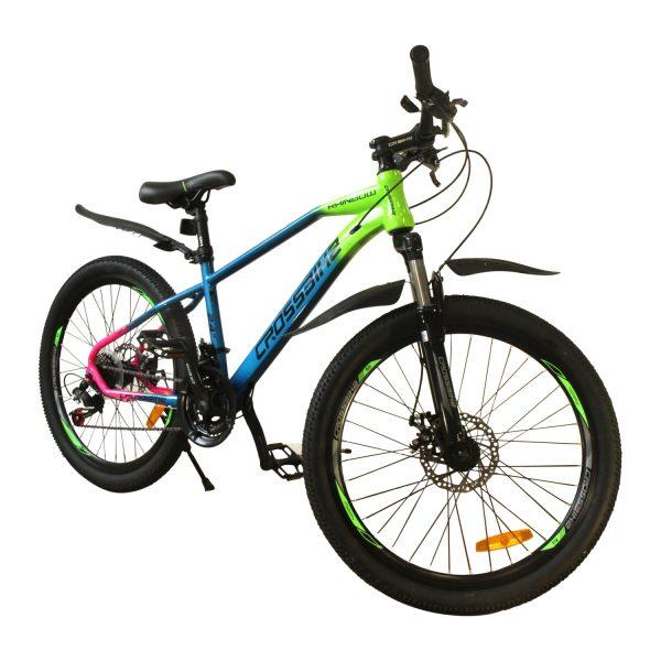 """Велосипед Crossbike Raindow 24"""" зеленый-синий-розовый"""