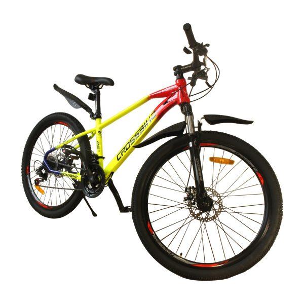 """Велосипед Crossbike Raindow 27,5"""" красный-желтый-синий"""