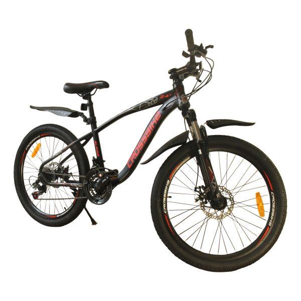 """Велосипед Crossbike Alpina 26"""" серый-красный"""