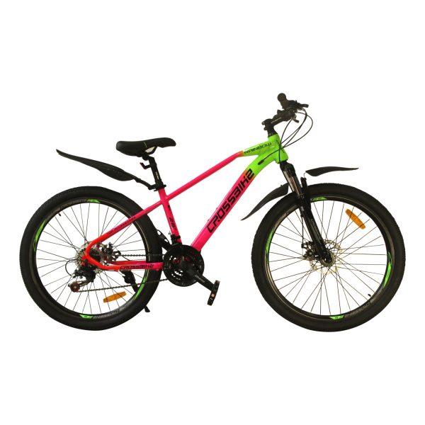 "Crossbike Rainbow 26"" зеленый-розовый-красный"