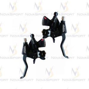Шифтер/тормозная ручка Shimano Tourney ST-EF65 лев/пра 3*8ск черный тр.+оплетк ESTM3102PTAL