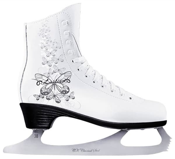 Фигурные коньки LADIES LUX velvet (белый)