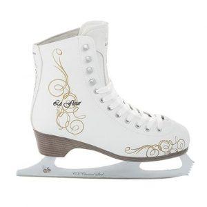 Фигурные коньки LE FLEUR fur (белый)