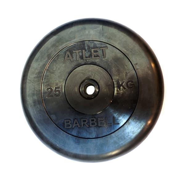 Диск Bestway обрезиненный черный 26 мм 25 кг