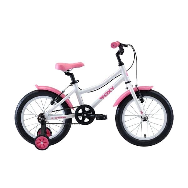Велосипед Stark'20 Foxy 16 Girl белый/розовый H000016493