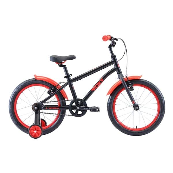 Велосипед Stark'20 Foxy 18 Boy чёрный/красный H000016490