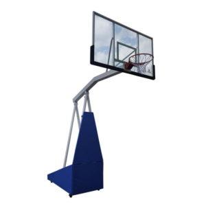 Баскетбольная мобильная стойка DFC STAND72G PRO 180x105см стекло 12мм (шесть коробов)
