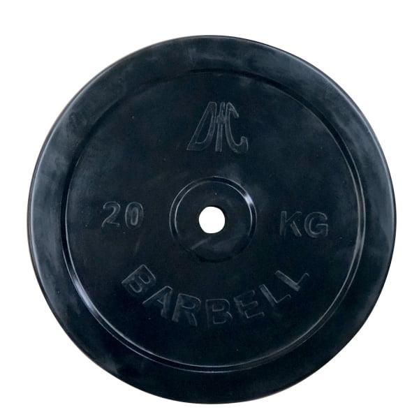 Диск обрезиненный DFC, чёрный, резин.втулка, 26мм, 20кг