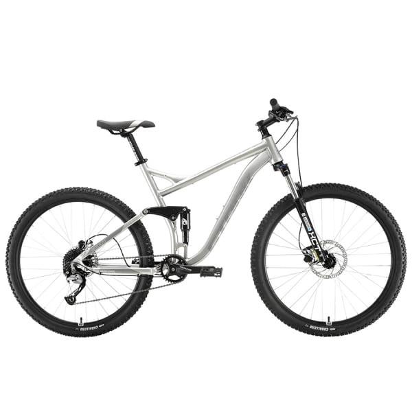 Велосипед Stark'20 Tactic 27.5 FS HD серебристый/серый