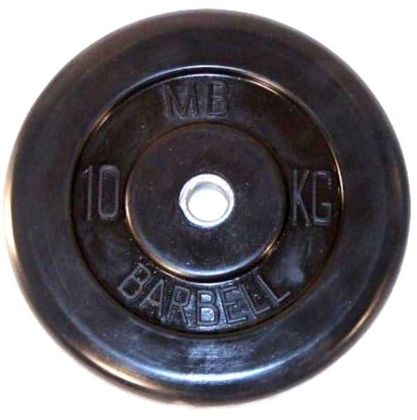 Диск Bestway обрезиненный литой черный 26 мм 10 кг