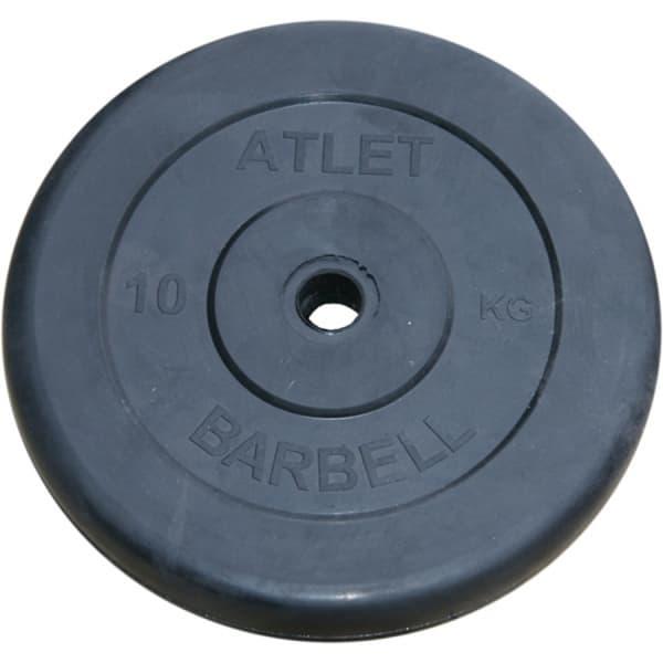 Диск Bestway обрезиненный черный 26 мм 10 кг