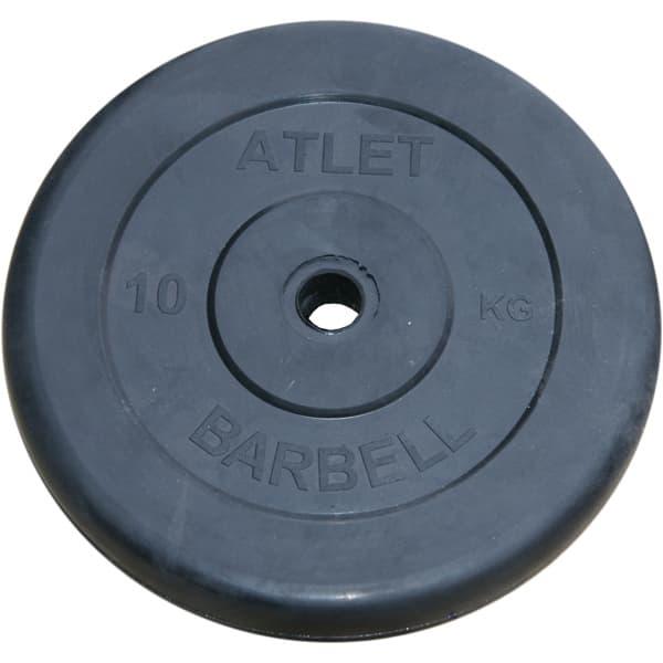 Диск Bestway обрезиненный черный 31 мм 10 кг