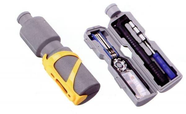 Набор велоинструментов KL-9806 Kenli из 11-ти предметов в футляре в форме фляги/230150