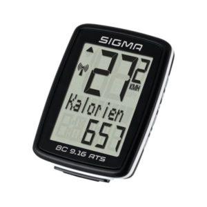 Велокомпьютер Sigma ВС 9.16 ATS, 11 функций, беспроводной, черный