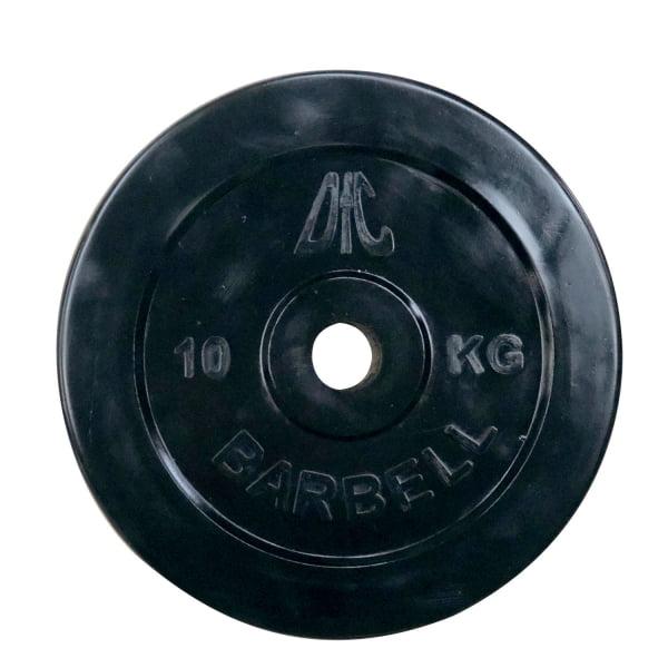 Диск обрезиненный DFC, чёрный, резин.втулка, 31мм, 10кг