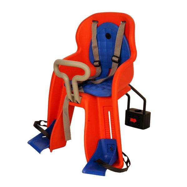 Велокресло детское GH-516RED, быстросъемное, крепеж на подседельную трубу спереди,красное