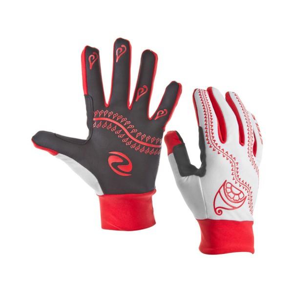 Велоперчатки WCG 44-0011 зимние красно-бело-чёрные