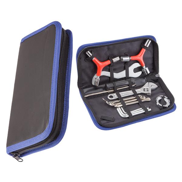 Набор велоинструментов KL-9808 из 12-ти предметов в футляре/230141