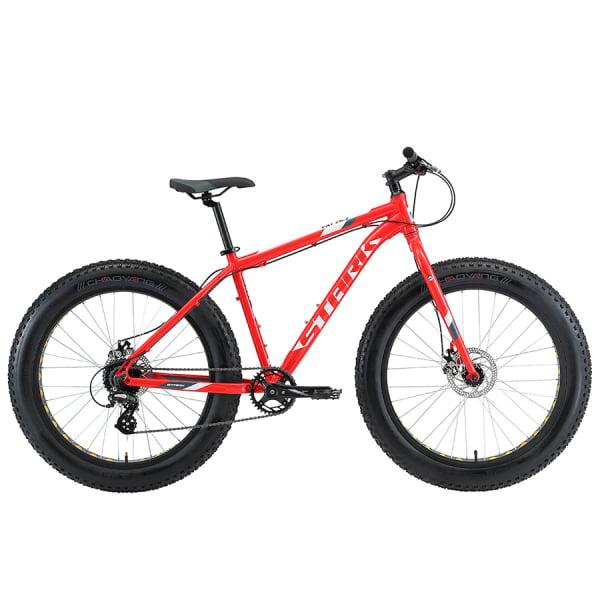 Велосипед Stark'20 Fat 26.2 D красный/белый/серый