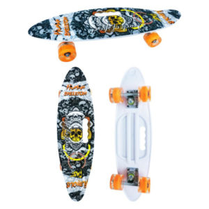 Скейт детский Navigator пластик, свет. кол., 60х17х12см, ручка для переноски Т17039