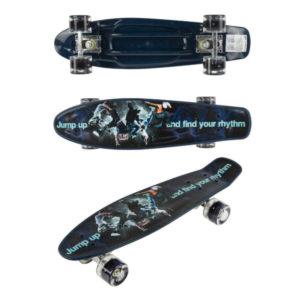 Скейт детский Navigator пластик, кол. без света, 56х15х12см, Т17035