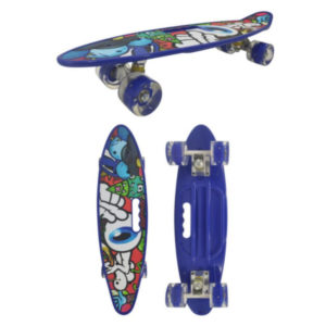 Скейт детский Navigator пластик, свет. кол., 59х16х13см, ручка для переноски Т17036