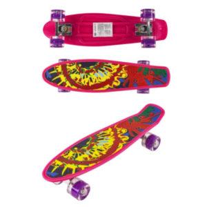 Скейт детский Navigator пластик, свет. кол., 56х15х9,5см  Т17040