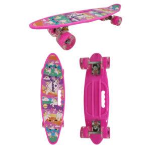 Скейт детский Navigator пластик, свет. кол. PU 60х45мм, ручка для переноски, 59х16х13см Т17037